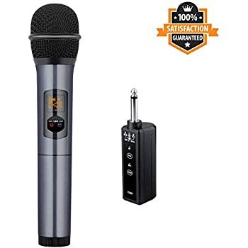 wireless microphone fifine handheld dynamic microphone wireless mic system for. Black Bedroom Furniture Sets. Home Design Ideas