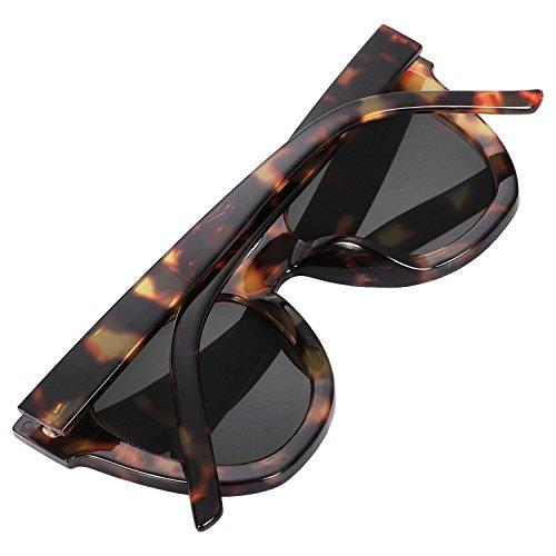 SODIAL Lente de elegante UV400 de Leopardo S17037 gris lujo marco Femenino de gradiente Gafas las sol de de ojo gato de mujer de Masculino PwvPXqRtr