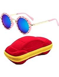 Kids Polarized Sunglasses UV400 Protection Metal Frame...