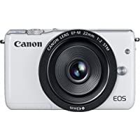 Canon EOS M10 Mirrorless Digital Camera with 22mm Lens (White) - International Version (No Warranty)