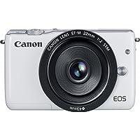 Canon EOS M10 Mirrorless Digital Camera with 22mm Lens (White) - International Version (No Warranty)