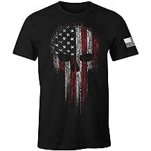 USA Military American Skull Flag Patriotic Men's T Shirt