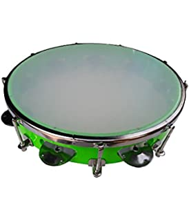 Alligator Fibre Dafli/Tambourine Random colour 8 inch Hand Percussion Musical Instrument