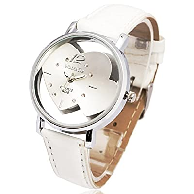 Heart Skeleton Design Cute Girl Lady Women Quartz Wrist Watch Bracelet Relogio