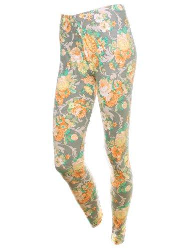 Simplicity Floral Stylish Pattern Leggings