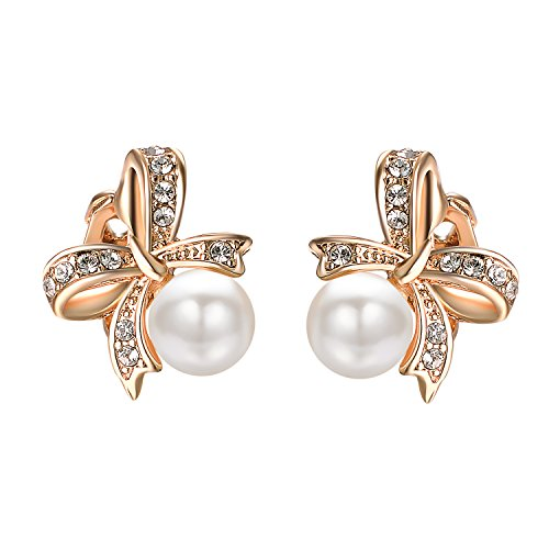 Yoursfs Clip Earring Simulated Ivory Pearl Round Earrings no Pierced Clip on Earrings for Women (Non Pierced Earrings) ()