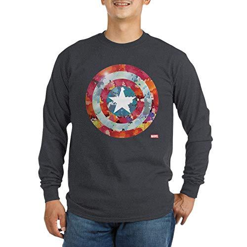 (CafePress Captain America Tie Dye S Long Sleeve Dark T Shirt Unisex Cotton Long Sleeve T-Shirt Charcoal)