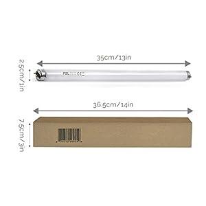 Aspectek Ultraviolet Tube 10W 2-Pack, Replacement UV Lightbulb for Insect Killer 20W