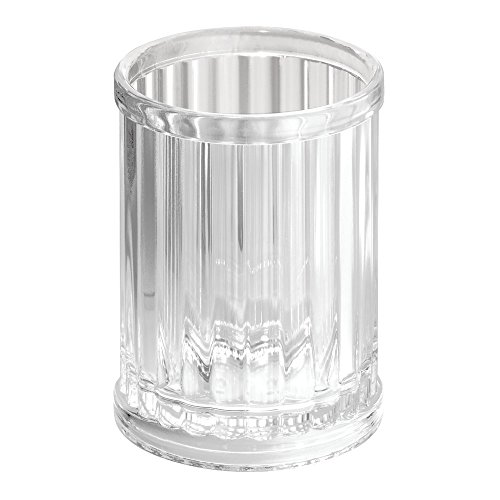 Bathroom Tumbler Cup - InterDesign Alston Tumbler Cup for Bathroom Vanity Countertops - Clear