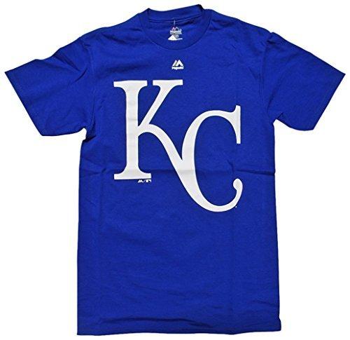 - Majestic Kansas City Royals Men's Official Logo Blue T-Shirt Small