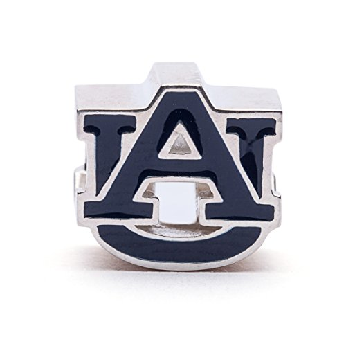 Auburn University Charm | Auburn University Blue Block AU Charm | Officially Licensed Auburn University Jewelry | Aubie Tiger | Auburn Charms | AU Gifts | AU Tigers | Stainless Steel