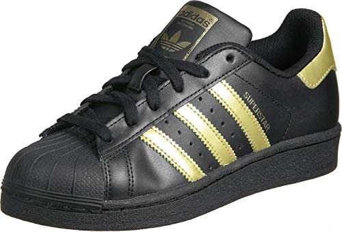 adidas superstar gold black