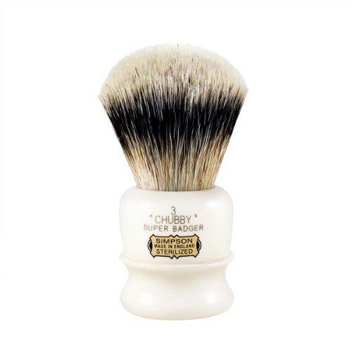 Simpson Chubby 3 Super Badger Shaving Brush CH3S by Simpson Shaving Brushes