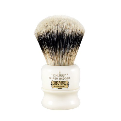 Simpson Chubby 3 Super Badger Shaving Brush CH3S (Simpson Chubby 2 Best Badger)
