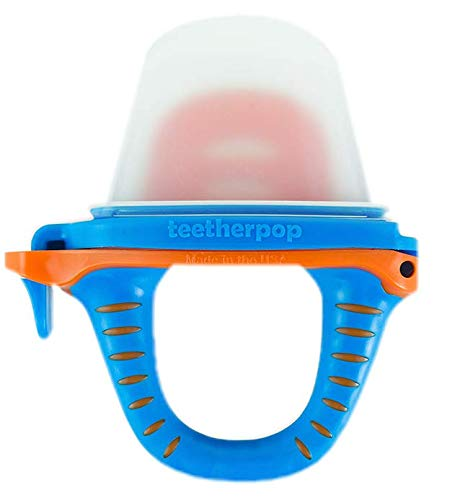 teetherpop – Fillable, Freezable Baby Teether for Breastmilk, Purées, Water, Smoothies, Juice & More (Baby Teether is USA Made & BPA Free)
