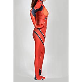 - 41YmfKRm 2BtL - Women's Cosplay Asuka Langley Soryu Zentai Bodysuit Costume