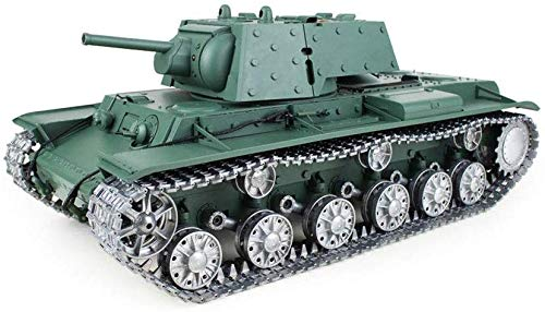 TIEHUE Child Toys Electric RC Toys Tank, Soviet KV-1 Heavy Tank 2.4Ghz Remote Control 1/16 Scale Model, Metal Track…