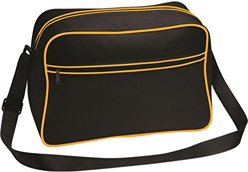 Bagbase Unisex estilo Retro para hombre bolsa para raquetas de tenis bolso de hombro/mochila de camiseta de mujer con bolsillo con cremallera Multicolor