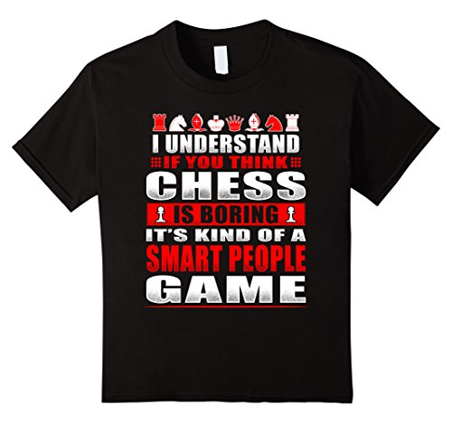 Kids Funny Chess Shirts Kind Of Smart People Game For Ner...