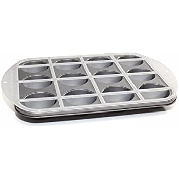 Mrs. Fields Cupcake Pan with Divider, Black and White