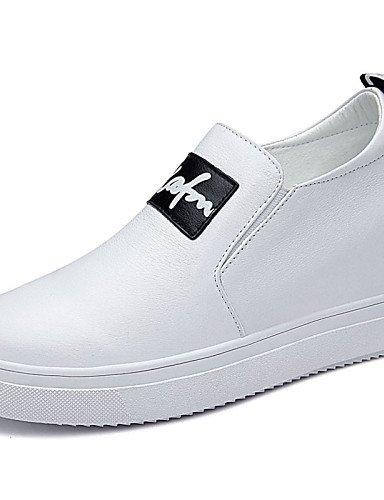 white us8 Tac¨®n eu39 eu39 5 Zapatos cn40 Vestido white Plano Creepers de y us8 Negro Casual uk6 Blanco Boda cn40 ZQ 5 Oficina black uk6 Trabajo mujer cn34 us5 eu35 uk3 Mocasines Cuero 5 5 qgtSw