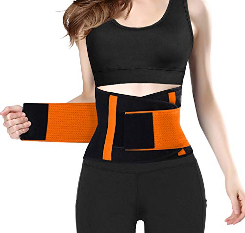 QEESMEI Women's Waist Trainer Belt - Waist Cincher Trimmer - Slimming Body Shaper Belt - Sport Girdle Belt for Weight Loss (Best Waist Trainer Belt)