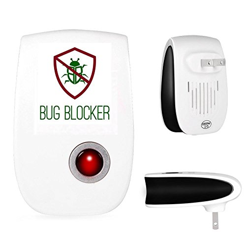 Bug BLocker Premium Quality Ultrasonic Pest Repeller Electronic Home Insect Control Aid - for Spiders, Ants, Cockroaches and Many More - Latest Technology-Safe for Children & Pets
