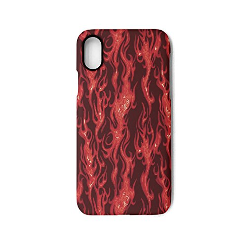 Hiunisyue iPhone X Case moving on flame-01 Shock Absorption Technology Bumper Soft TPU Cover Case for iPhone X]()