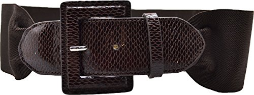 (Style & Co. Womens Stretch Belt Brown Med)