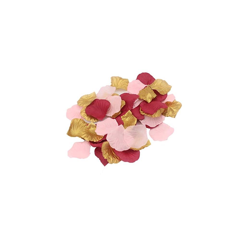 ALLHEARTDESIRES-900-Pack-Blush-Pink-Burgundy-Gold-Party-Confetti-Artificial-Flower-Petals-for-Wedding-Engagement-Bachelorette-Party-Hen-Night-Bridal-Shower-Decoration-Favor