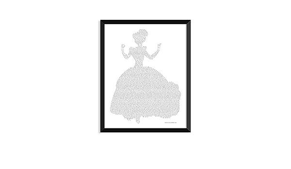 Cinderella Silhouette Stories Complete Story Unframed Art Print Handmade