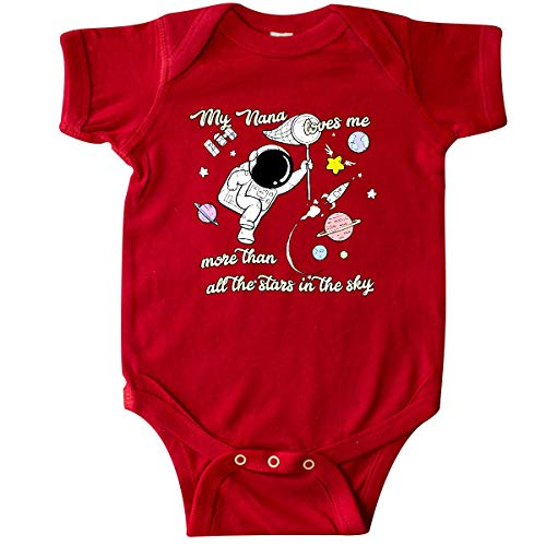 inktastic - My Nana Loves Me Infant Creeper 6 Months Red 35b2f