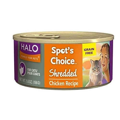 chic halo spot s choice holistic grain free wet cat food shredded