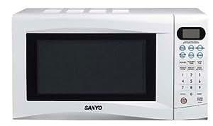 Sanyo - Microondas Emg256Aw, 20L, 800W, Congrill 1000W Simultaneo. 10 Niveles De Potencia, Descongelacion Por Peso Y Por Tiempo, Blanco Con Pantalla Digital