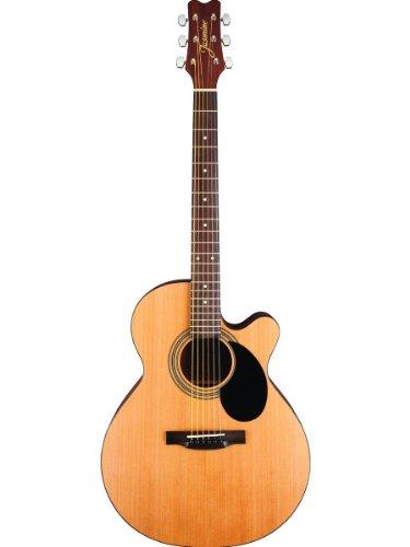 Jasmine by Takamine S34C NEX (Mini-Jumbo) Cutaway Acoustic Guitar With 16 Pick (Takamine Jasmine Acoustic)