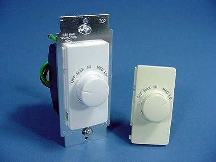 Fan Speed & Lighting Controls RTF01-AW Leviton Decora