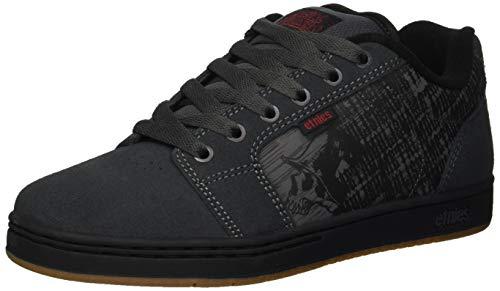 Etnies Men's Barge XL Skate Shoe, Metal Mulisha Dark Grey/Black/White, 12 Medium (Etnies Fader Skateboarding Shoes)