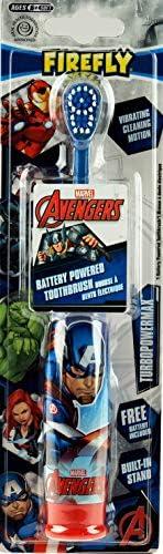 Firefly Marvel Iron Man/Captain America Elektrische Zahnbürste, batteriebetrieben