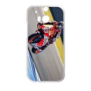 HTC One M8 Cell Phone Case White Marc Marquez D2288459