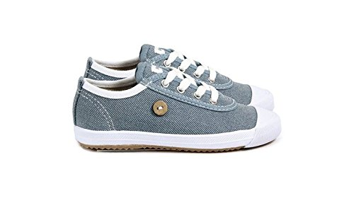 FAGUO - BASKETS OAK LACETS DENIM BLANC - TAILLE 26