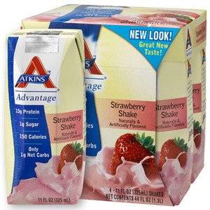 Atkins Nutritionals Advantage Ready-to-Drink Shakes, Stra...