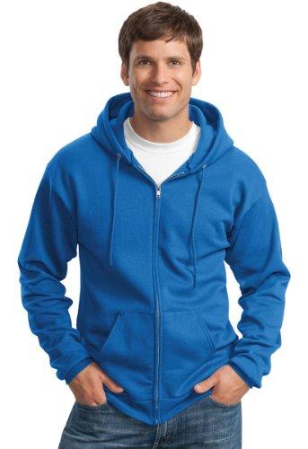(Port & Company Men's Classic Full Zip Hooded Sweatshirt M)