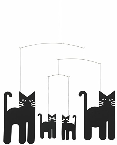 Flensted Mobiles Cats Hanging Mobile - 18 Inches Cardboard