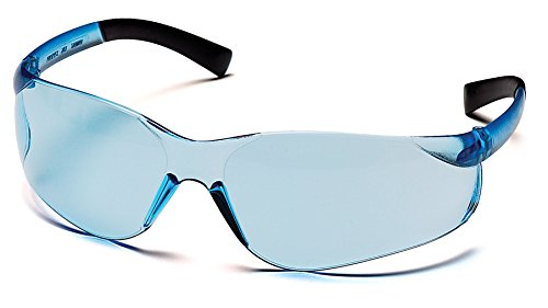 Pyramex Ztek Safety Eyewear, Infinity Blue Anti-Fog Lens With Infinity Blue Frame (Lens Shooting Glasses)