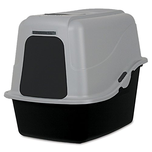 Petmate Hooded Litter Pan Set Large, Black/Gray
