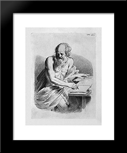 Act Framed Print - St. Jerome in the act of writing 20x24 Framed Art Print by Piranesi, Giovanni.