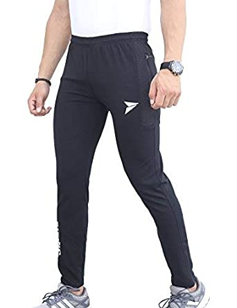 5c1dadc3e426 Fitinc Dobby Lycra Black Trackpant for Men with Two Side Zipper Pockets –  Stretchable