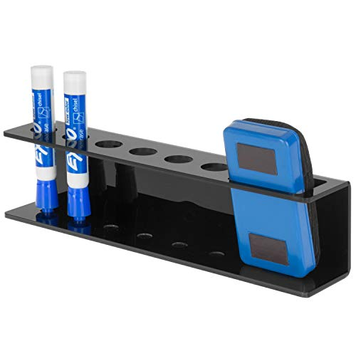 - MyGift Black Acrylic Magnetic 6-Slot Dry Erase Marker & Eraser Holder