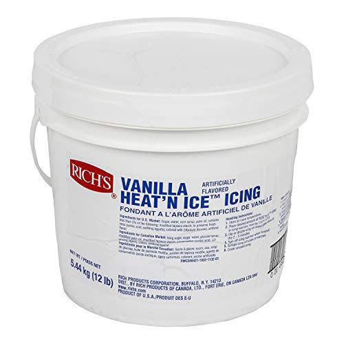 Rich's Heat 'N Ice Donut Icing for Donuts, Rolls & More, Vanilla, 12 lb Pail -