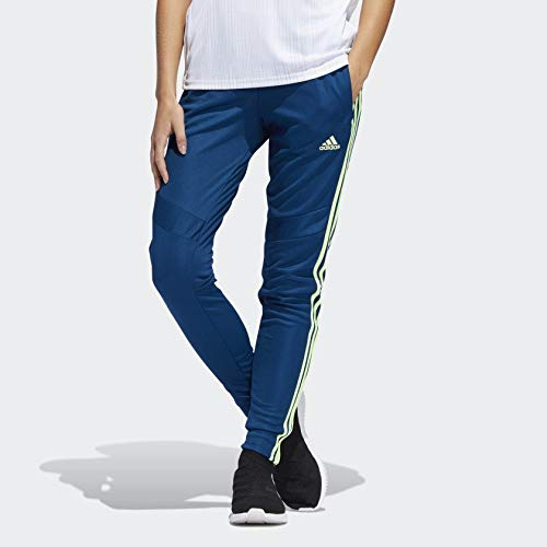adidas Women's Soccer Tiro 19 Training Pant, Legend Marine/Hi-Res Yellow, Medium